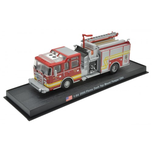 Pierce Dash Top Mount Pumper 2006 die-cast Fire Truck Model 1:64