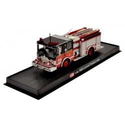 Luverne Pumper 1998 die-cast Fire Truck Model 1:64