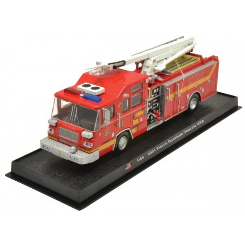 Pierce Quantum Snozzle die-cast Fire Truck Model 1:64