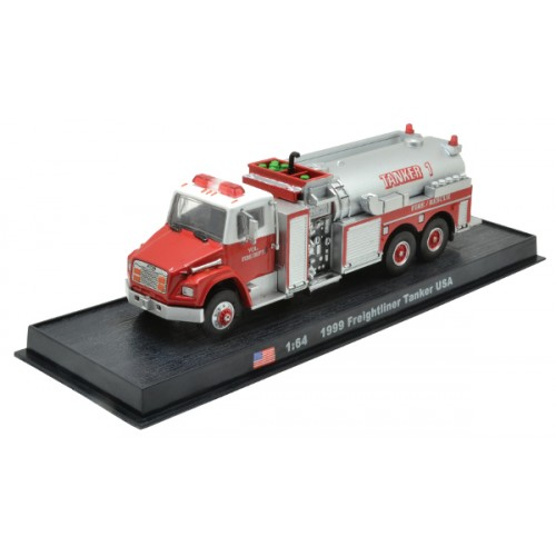 Freightliner Tanker USA die-cast Fire Truck Model 1:64
