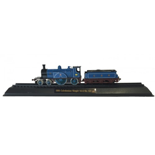 Caledonian 'Single' 4-2-2 No. 123 - 1886 Diecast Model 1:76 Scale